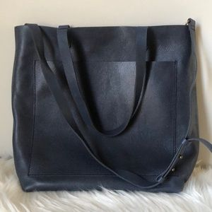 New Madewell Blue medium Transport Tote Bag